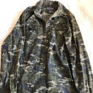 Camo button up flannel